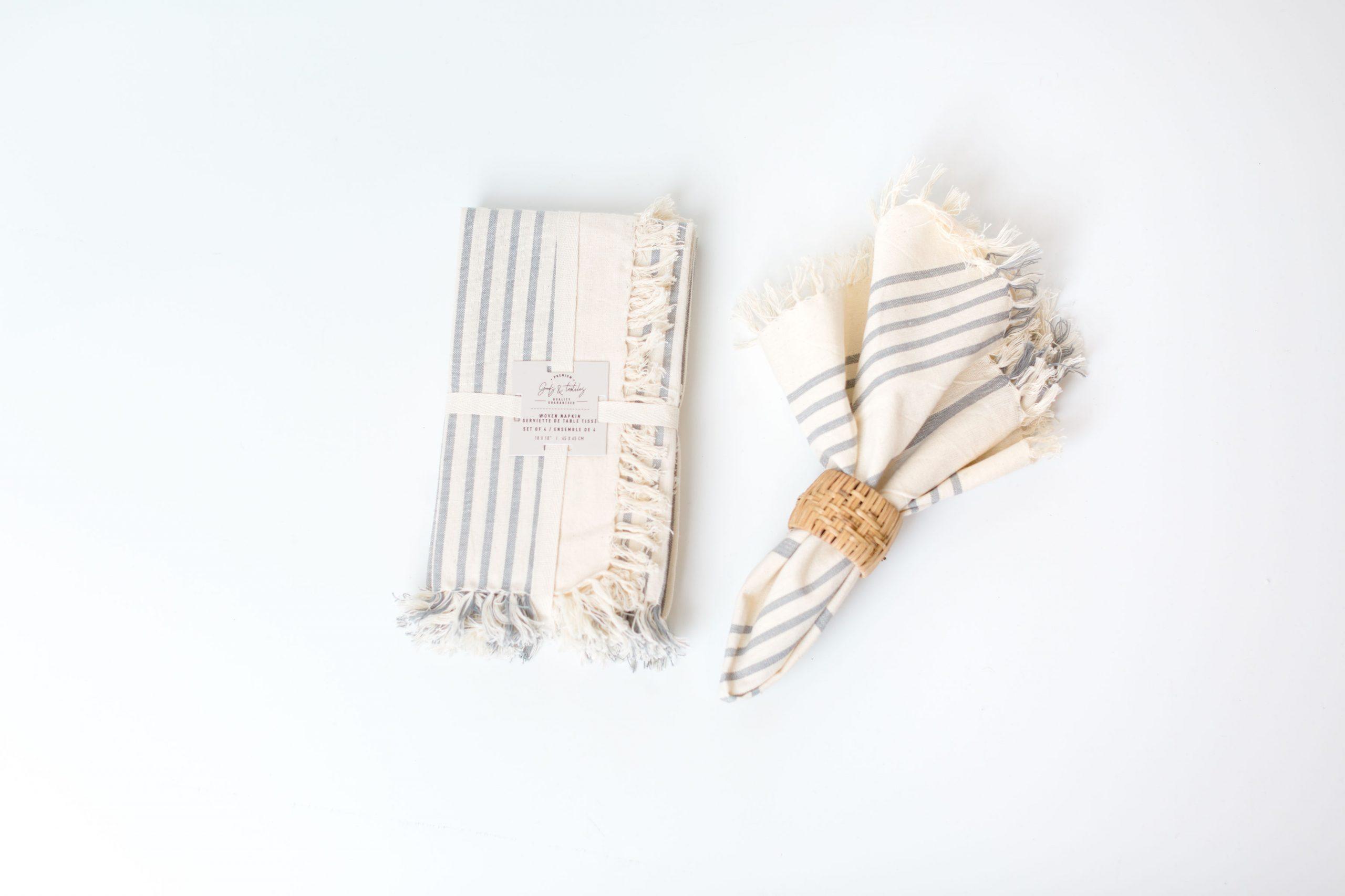 Stripe Napkin, Grey  (set of four)