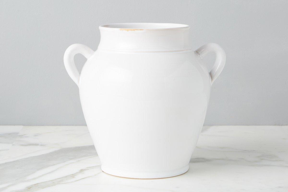 etu home White frech confit pot, large